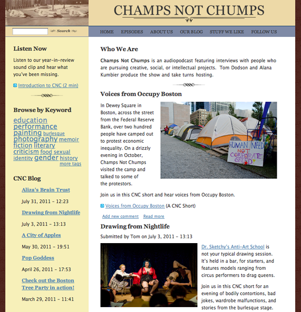 Champs Not Chumps Site