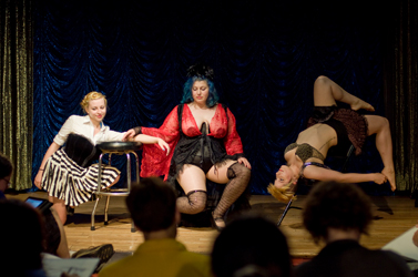 Bunnies posing at Dr. Sketchy's. Photo by Justin Moore